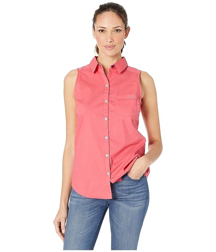 Columbia PFG Harborside Woven Sleeveless Shirt (Bright Geranium) Women