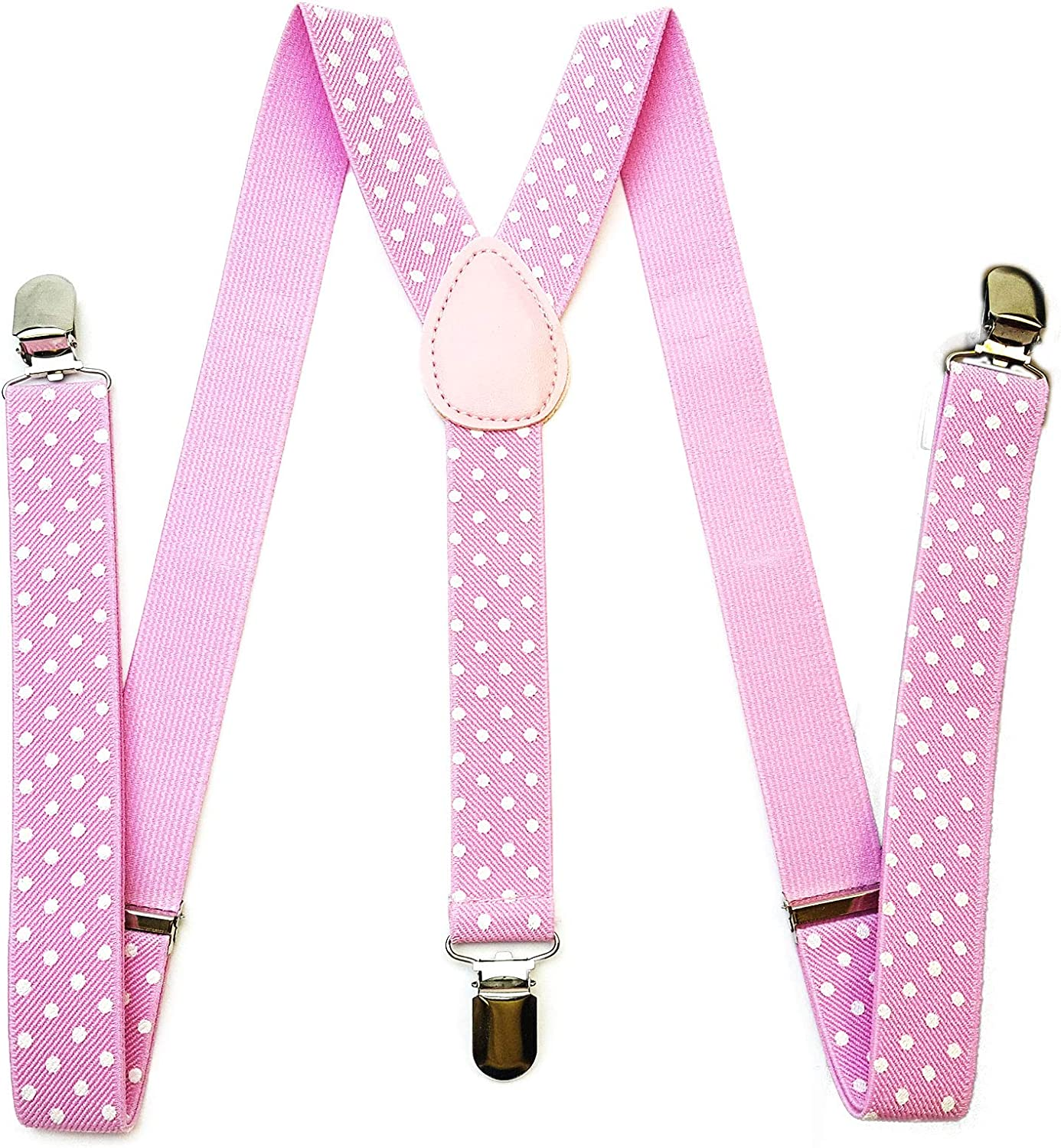 PrismMall Colorful Solid Color and Dot Pattern Suspender