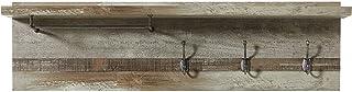 Stella Trading Porte-Manteau Vintage Bonanza en Bois de Drift, Driftwood NB, 130 x 38 x 28 cm