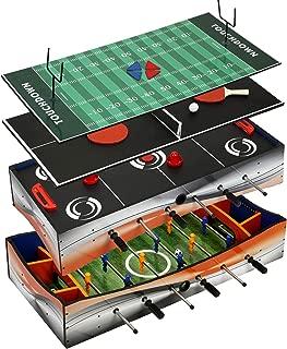 Carmelli 4-in-1 Foosball, Table Tennis Multi-Game Tabletop Game Revolver 40-in