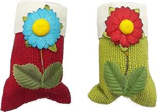 Silvia Fridge Magnet Cum Toothpick/Earbud Holder Pack of 2 Multicolour