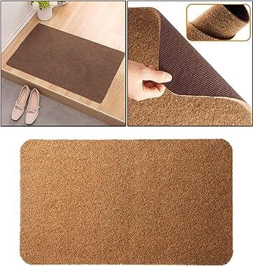 Fenteer Door Mat Mats Doormats Front Entrance Door Rugs Indoor Outdoor, Floor Rugs for Kitchen Porch - Pure Brown 45x70cm
