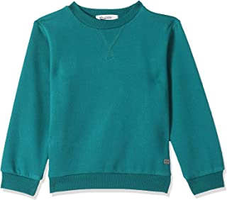 Giggles Long Sleeves Regular-Fit Ribbed Trims Solid Pullover for Boys