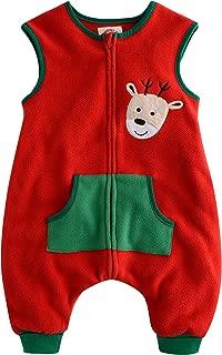 Vaenait baby Kids Boys Micro-Fleece X-Mas Chirstmas Wearable Blanket Sleeper