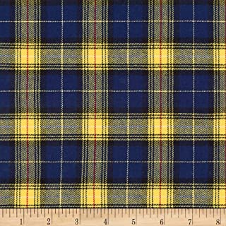 Robert Kaufman Kaufman Sevenberry: Classic Plaid Twill Blue, Fabric by the Yard