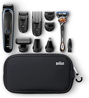 Braun Multi Grooming Kit MGK3980 Black/Blue – 9-in-1 Precision Trimmer for Beard and Hair Styling