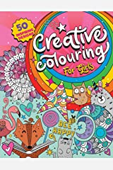 Creative Colouring for Girls: 50 inspiring designs of animals, playful patterns and feel-good images in a colouring book for tweens and girls ages 6-8, 9-12 (UK Edition) Paperback