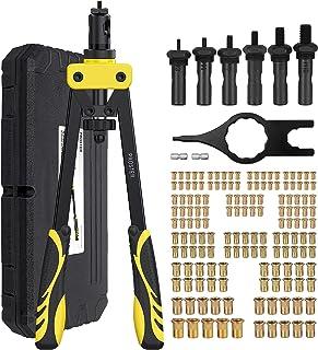 NO-158LM inserto filettato per chiave Rivnut incluso M3 M4 M5 M6 M8 kit per rivettatrici a mano per impieghi gravosi MAYLINE Set di utensili per dadi per rivetti 158PCS Dadi per rivetti