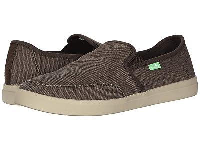 Sanuk Vagabond Slip-On Sneaker (Brown) Men