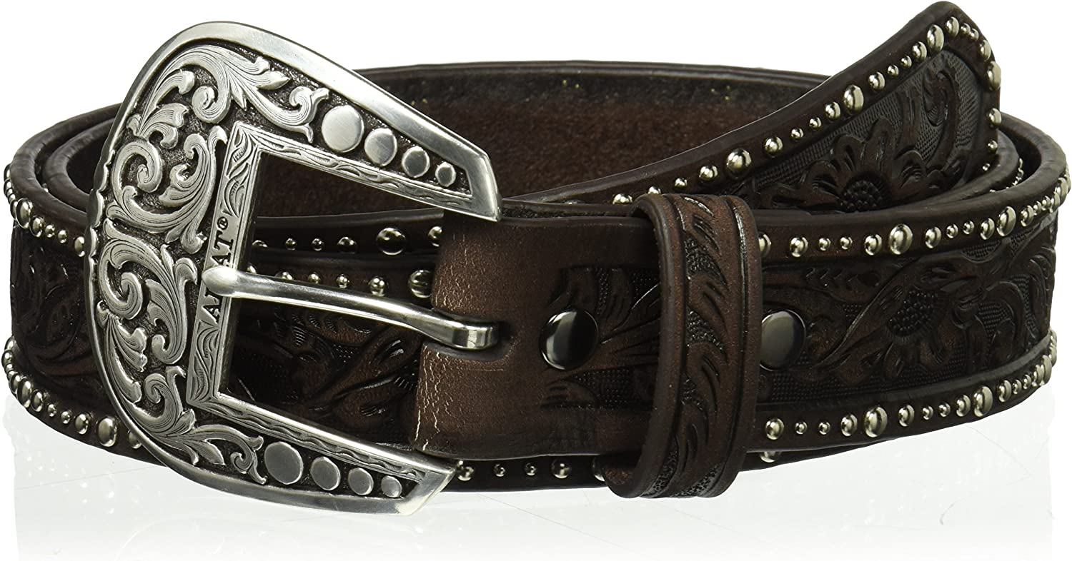 ARIAT Shipping included Women's Floral Nail Belt Shipping included Head Edge