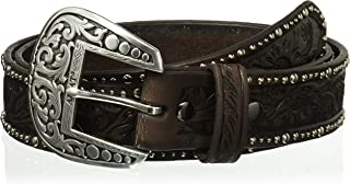 Ariat Women's Floral Nail Head Edge Belt, brown