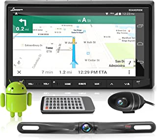 """In-Dash Car Stereo with 7"""" Multi-Color Touchscreen Display - Audio Video System with Bluetooth for Wireless Music Streamin..."""