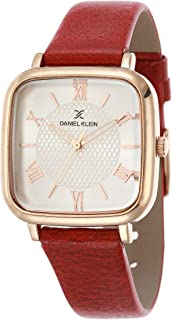 DANIEL KLEIN Premium Alloy Case Genuine Leather Band Ladies Wrist Watch - DK.1.12430-4
