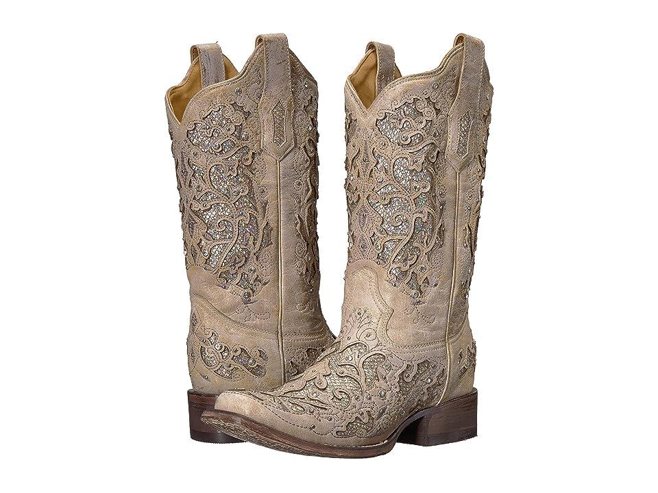 Corral Boots A3397 (White/White Glitter) Women
