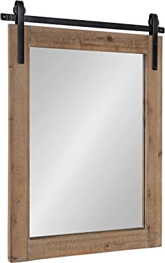 Kate and Laurel Cates Wall Mirror, 22x.75x30, Rustic Brown