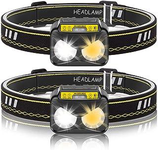 comprar comparacion Linterna de Cabeza,Eletorot Linterna Frontal LED USB Recargable IPX5 Impermeable 2 Pcs Sensor Inteligente Luz Frontal Lint...