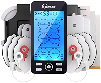 Tens Unit Plus 24 [Lifetime Warranty] Rechargeable Electronic Pulse Massager Machine Multi Mode Device with All Acces...