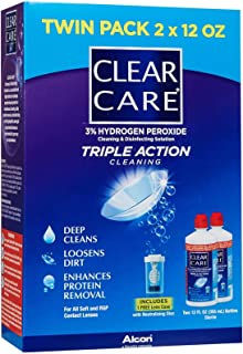 CLEAR CARE Cleaning Disinfection Solution Twin Value Pack Multicolor