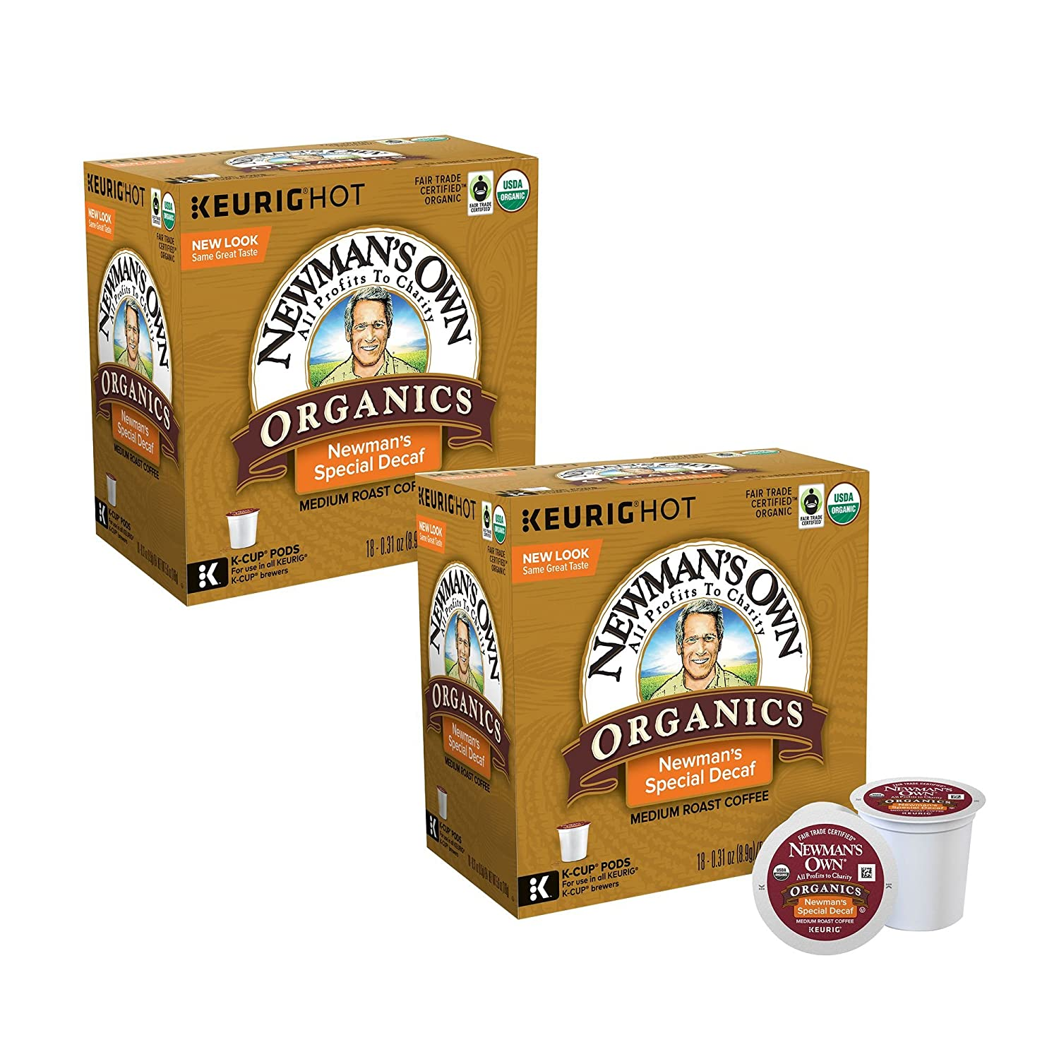 Portland Mall Newman's Own Organics Special Decaf Super popular specialty store 180 Pods K-Cup Coffee