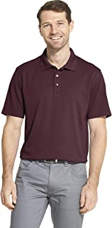 Van Heusen Men's Short Sleeve Air Performance Ottoman Stripe Polo Shirt