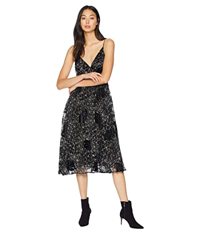 ASTR the Label Jane Dress (Black/Lilac Floral) Women