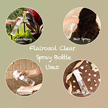 Beautify Beauties Flairosol Hair Spray Bottle – Ultra Fine Continuous Water Mister for Hairstyling, Cleaning, Plants,...