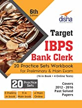 Target IBPS Bank Clerk 20 Practice Sets Workbook for Preliminary & Main Exam (16 in Book + 4 Online Tests) - 6th Edition