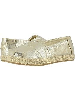 Girls Spring TOMS Kids Gold Shoes +