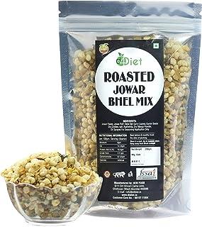 D4Diet Roasted Jowar Bhel Mix -Namkeen/Roasted Snacks/Healthy Snacks Pouch, 200 g