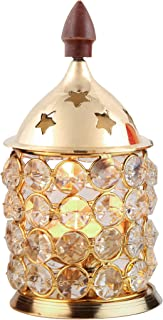 Shubhkart Crystal Deep Medium, Glass Diya Diya, Light Holder,