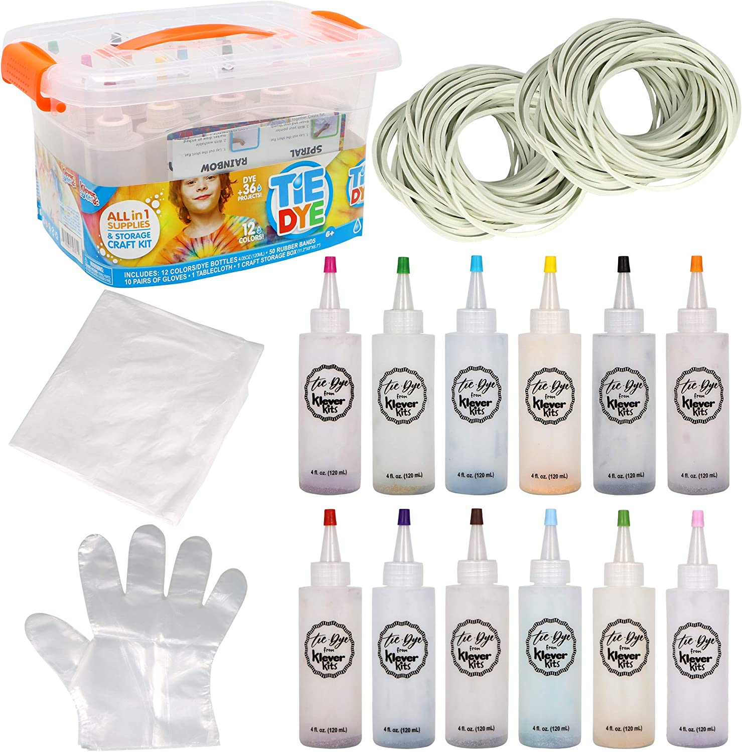 Klever Kits Tie Dye DIY 12 Finally popular brand S with Fabric Manufacturer direct delivery Set Colors Art