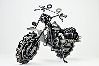 Genius Tool Dirt Devil Die Cast Metal Motorcycle -Handmade 7.5
