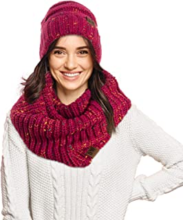 Knit Infinity Loop Scarf And Beanie Hat Set, Warm For The Winter In 6 Colors By Debra Weitzner