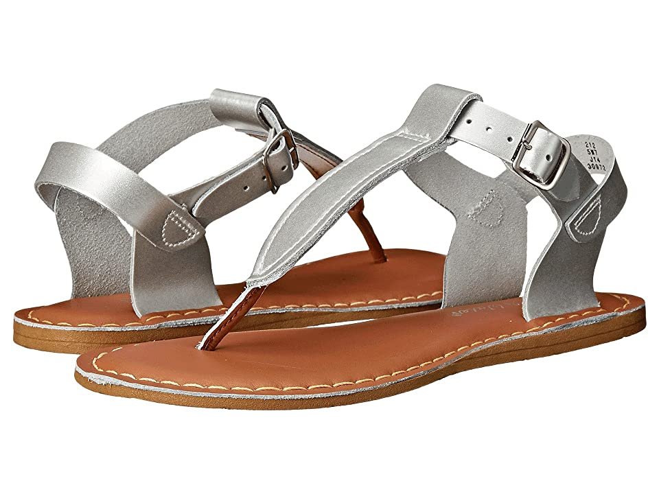 Salt Water Sandal by Hoy Shoes Sun-San T-Thongs (Big Kid/Adult) (Silver) Girls Shoes