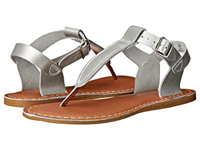 Salt Water Sandal by Hoy Shoes Sun-San T-Thongs (Big Kid/Adult) (Silver) Girls Shoes