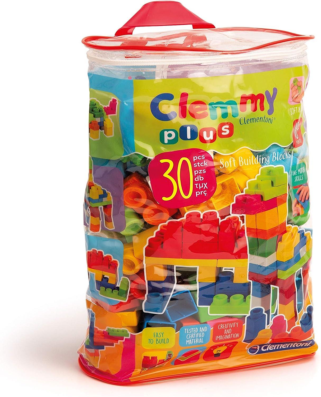 Clementoni Clemmy Plus 30-Piece Soft Blocks in A Bag