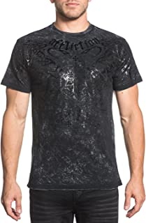 Affliction Men's Short Sleevee Graphic Reversible T-Shirt