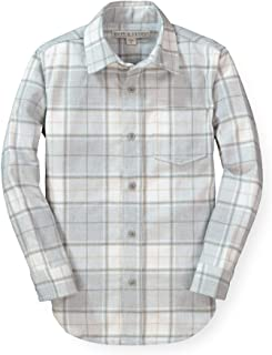 Boys' Long Sleeve Brushed Cotton Flannel Button Down Shirt