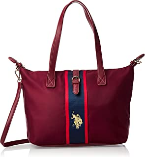 US Polo Womens Medium Shopping Bag, Wine - BIUPW0629WIP444