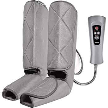 RENPHO Leg Massager for Circulation and Relaxation, Foot and Calf Massager Machine with Handheld Controller 5 Modes 4 Intensities for Muscles Relaxation, Over Wide Size Leg Wraps Home Use