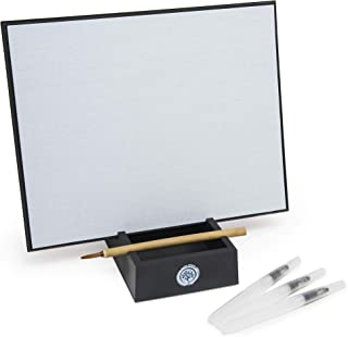 Zen Satori Board, Large - Paint with Water, Meditation & Mindfulness Practice, Great for Classrooms, Includes (3) Water Brushes