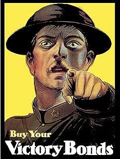 PROPAGANDA WAR WWI CANADA VICTORY BOND SOLDIER POINT ART PRINT POSTER BB7042B