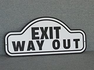 Exit WAY OUT Sign Wood Vintage Style Man Cave Garage Art