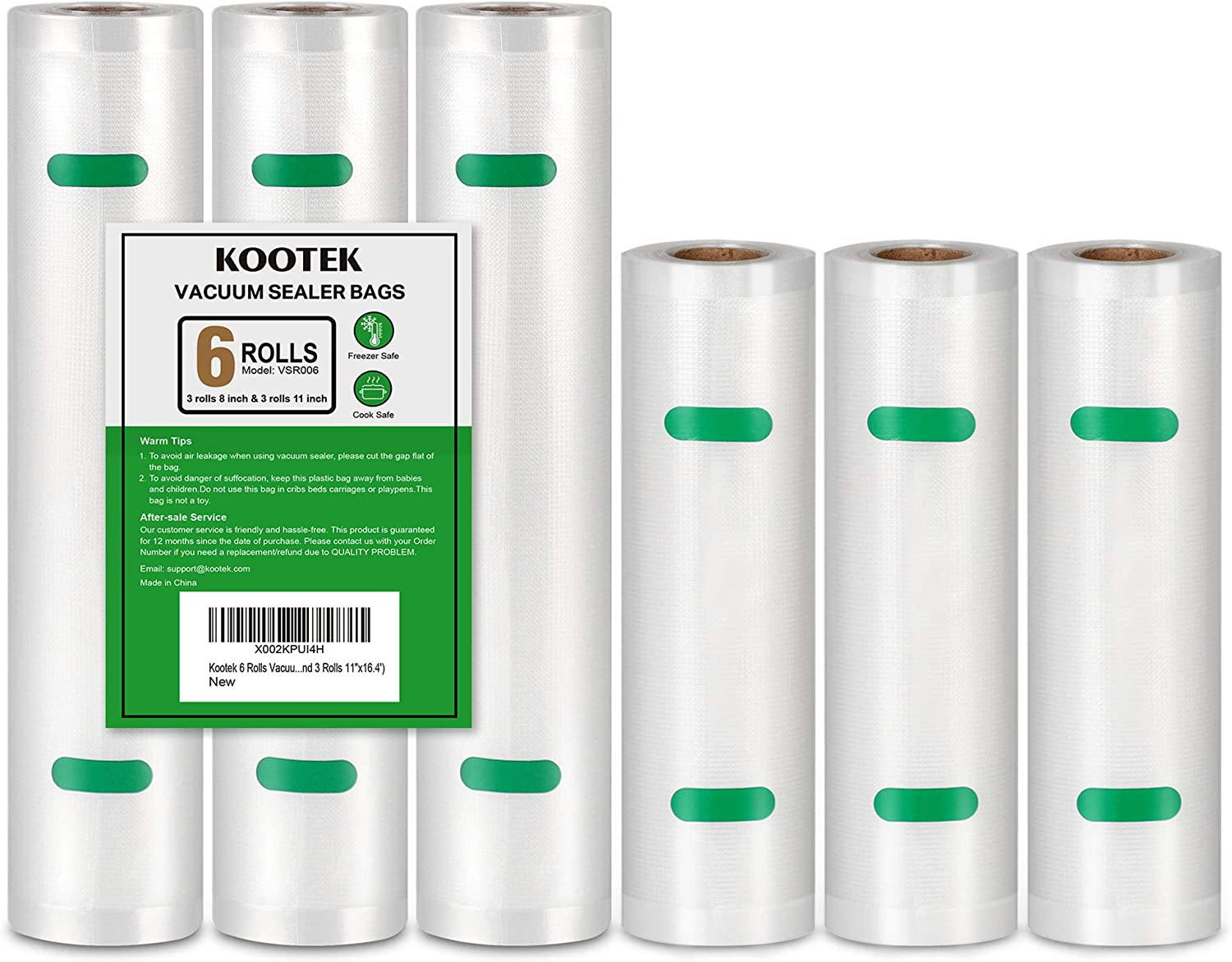 Kootek 6 Rolls Vacuum Max 79% OFF New products, world's highest quality popular! Sealer Bags Food Heavy for Thicker Saver