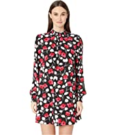 Kate Spade New York - Dashing Beauty Vintage Fleur Crepe Dress