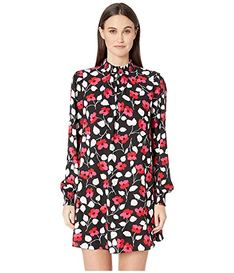 Kate Spade New York Dashing Beauty Vintage Fleur Crepe Dress