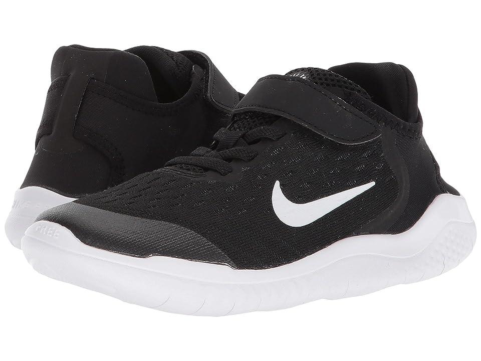 Nike Kids Free RN 2018 (Little Kid) (Black/White) Boys Shoes