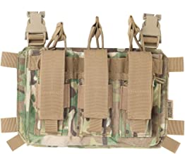 OneTigris Triple Kangaroo Mag Pouch Tactical Placard 02 for 5.56 7.62 Mags and 9mm Pistol Mags
