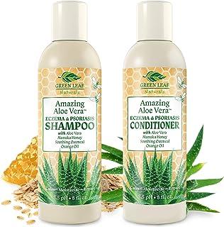 Amazing Aloe Vera Eczema Psoriasis Shampoo and Conditioner Set with Manuka Honey