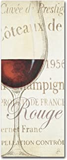 Les Rouge by Daphne Brissonnet Wall Decor, 8 by 19-Inch Canvas Wall Art